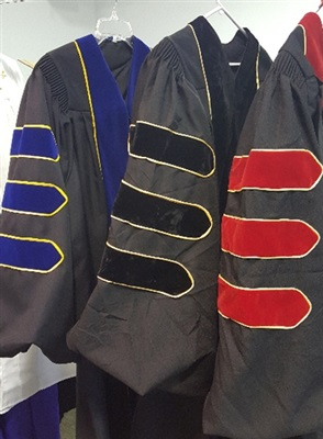 Doctoral Robe with Gold Piping